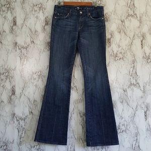 7FAM 'A' Pocket Dark Flare Jeans 29 2J75